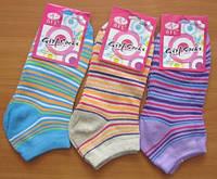 Укороченные женские носочки в полоску, фото 1