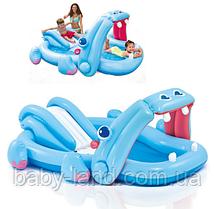 Игровой центр детский надувной Бегемотик 221*188*86 см Intex 57150