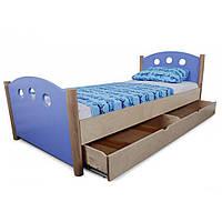 Кровать подростковая Village с ящиком Синий  IndigoWood (30271)