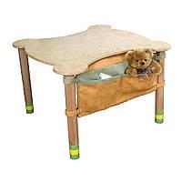 Стол фигурный с карманом столешница береза  Зеленый IndigoWood (29706)