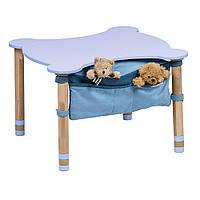 Стол фигурный с карманом цветная столешница  Синий IndigoWood (29707)