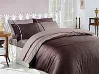Комплект постельного белья First Choice S-041 Koyu Kahve, Размер Двуспальный/евро