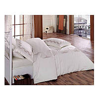 Комплект постельного белья Сатин с вышивкой  Remember Beyaz 200x220 Cotton Box (010077186)