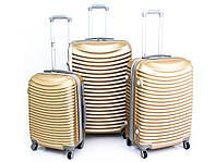 Набор чемоданов из поликарбоната 3шт DIAMENT Разные цвета