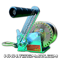 Лебедка на 450 кг барабанная ременная ленточная 50 мм - 10 м Housetools 97K003