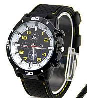 Мужские наручные часы GT Grand Touring спортивные (F1 Speed Racer Men Sport) желтые
