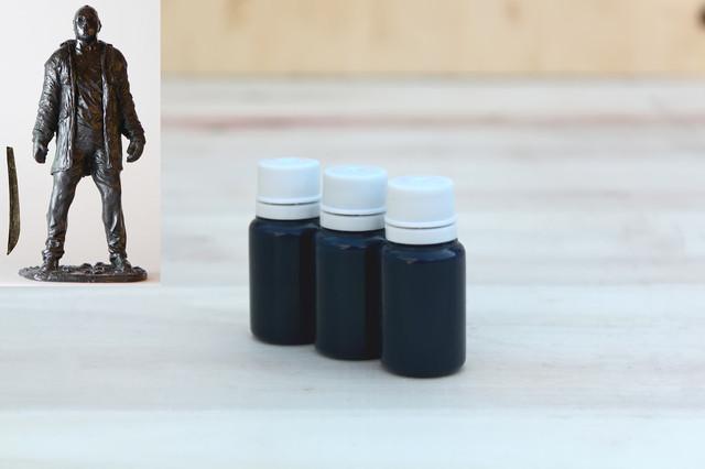 черный краситель для силикона и пластика