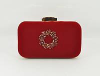 Велюровый клатч Rose Heart 7060-1 красный, сумочка на цепочке