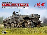 1:35 Сборная модель бронетранспортера Sd.Kfz.251/1 Ausf.A, ICM 35101