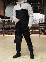 Комплект спортивный зимний Анорак + Штаны + ПОДАРОК + СКИДКА! черный+серый