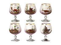 """Набор бокалов для коньяка из 6 шт. """"Охота"""" 250 мл. розовый"""