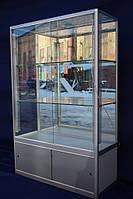 Торговая витрина стеклянная с алюминиевого профиля 150х100х40 бу