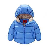 Голубая куртка демисезонная для мальчика весна-осень