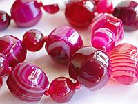 """Бусы из розового агата """"Полосы"""", фото 1"""
