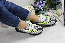 Кроссовки подростковые Nike air max 95 серые с салатовым, фото 3