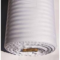 Ткань сатин страйп 1*1 белый Турция (280 см.) 6741