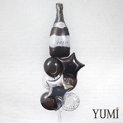 Стильная композиция из шариков с гелием ко Дню Рождения, фото 2