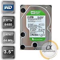 """Жесткий диск 3.5"""" 2Tb WD WD20EARX (64Mb/5400/SATAII) БУ"""