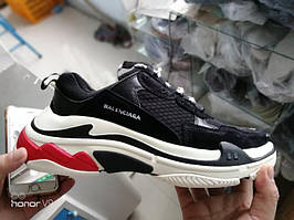 Мужские кроссовки Balenciaga Triple-S Black/White/Red