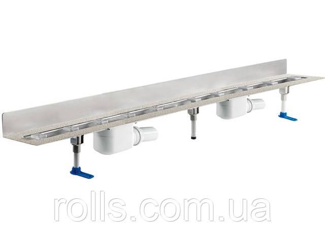 HL50W.0/170 Угловой душевой лоток для линейного отведения воды с сифоном DN50, с материалом для монтажа