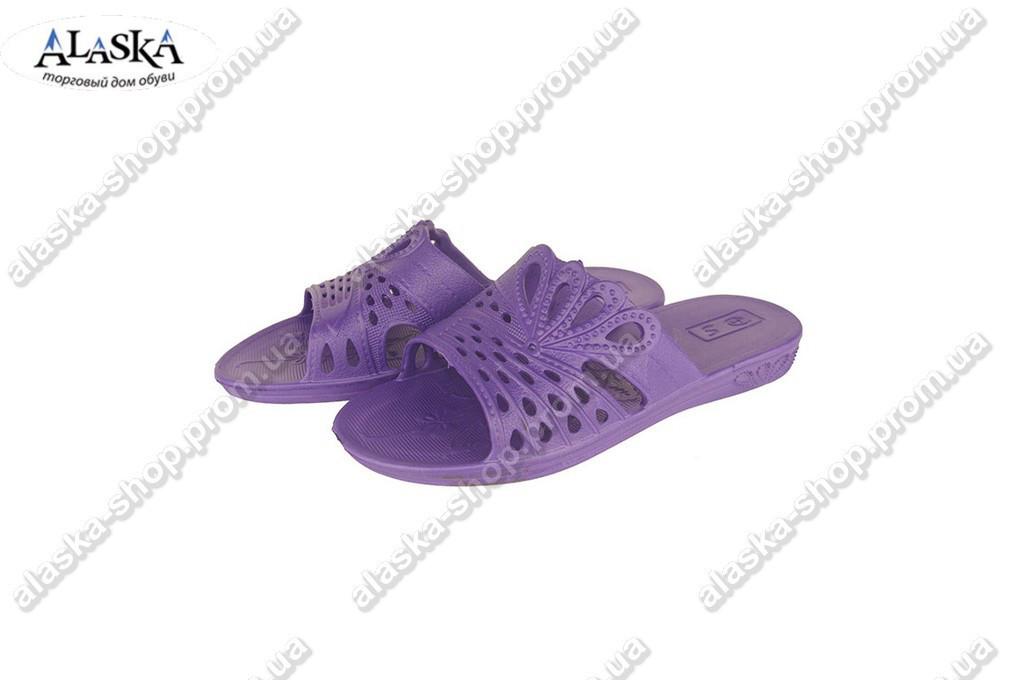Женские шлепки  (Код: ПЖ-31 фиолет )