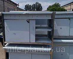 Столы производственные с распашными дверями из нержавеющей стали