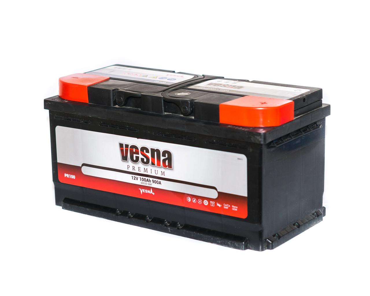 Аккумулятор автомобильный 6СТ-100Ач. 900A. VESNA Premium Euro