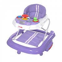 Ходунки-качалка  2 в 1 CARRELLO Forza музыкальной панелью    Purple