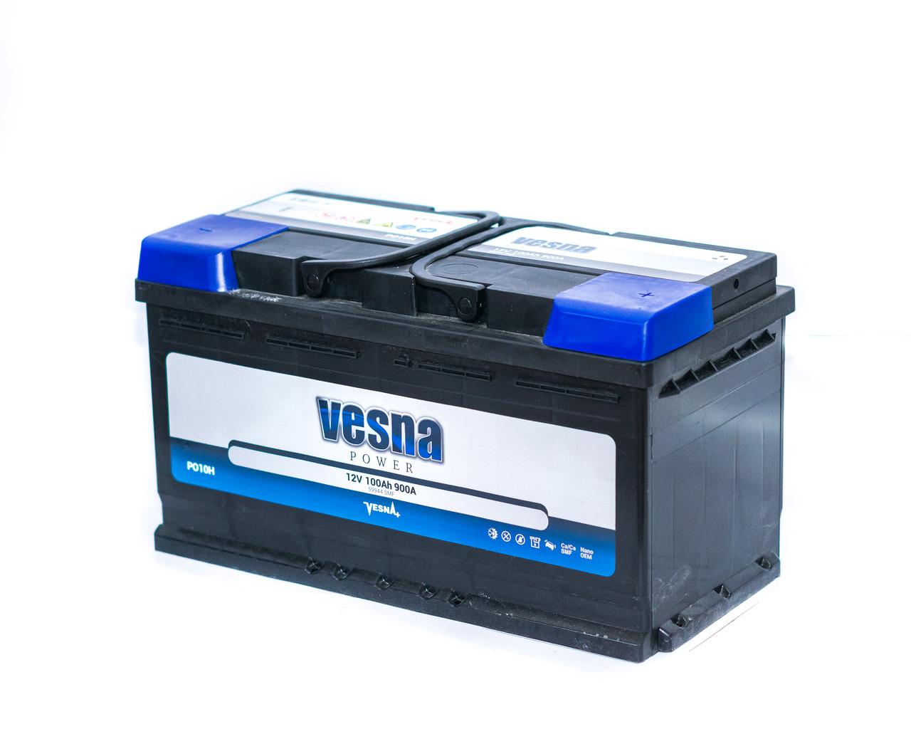 Аккумулятор автомобильный 6СТ-100Ач. 900A. VESNA Power Euro