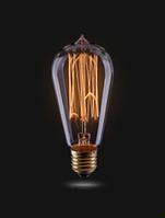Ретро-лампа VOLTEGA ST58 (винтажная колба) 40W E27 (янтарь нити)