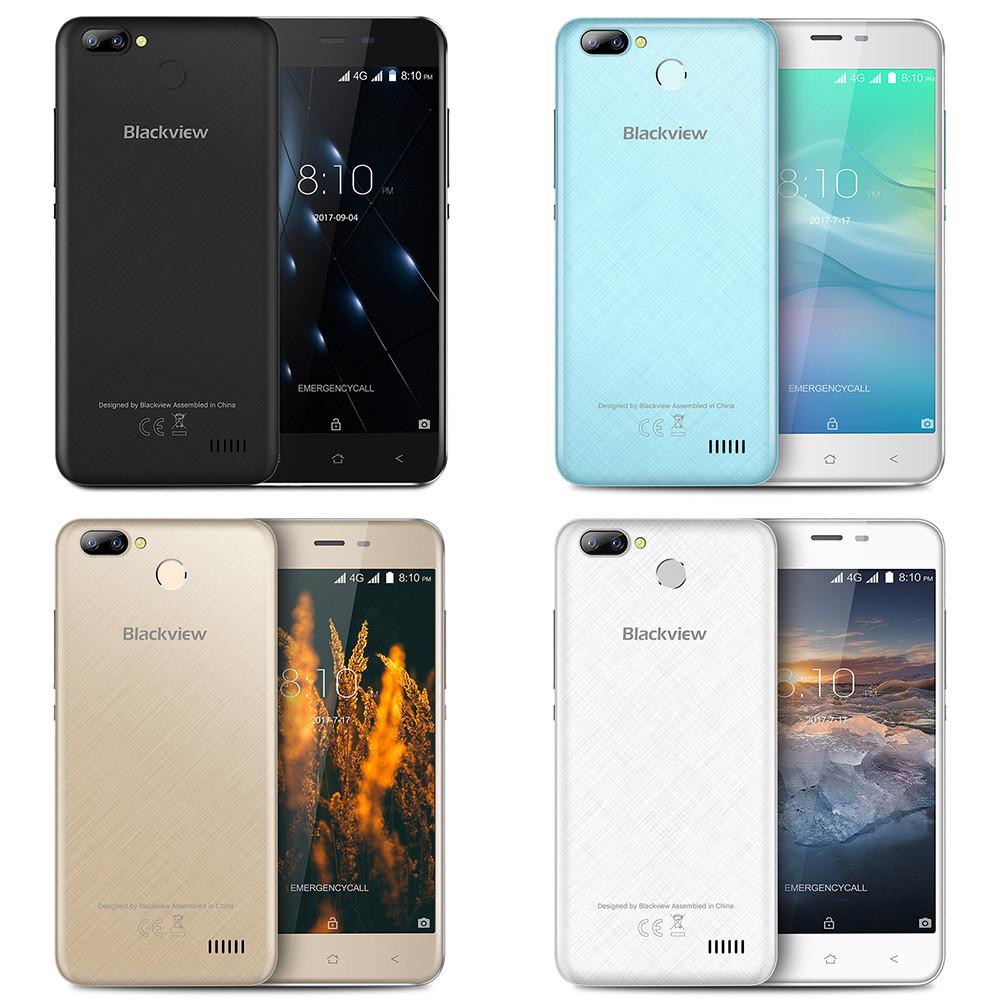 "Смартфон Blackview A7 Pro 2/16Gb Blue, Black, 8+0.3/5Мп, 4 ядра, 2sim, экран 5"" IPS, 2800mAh, GPS, 4G"