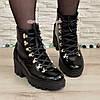 Ботинки женские лаковые   на шнуровке, фото 4