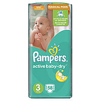Подгузник Pampers Active Baby-Dry Midi (4-9 кг), 58шт (4015400735625)