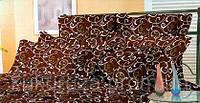 Наволочка 50х70 Завиток (Шоколадный/беж)