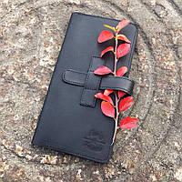 Мужское кожаное портмоне ручной работы Коньон Black, Sharky Friends