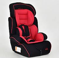 Детское кресло для авто черное с красным до 36 кг JOY 8888