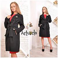 Пальто женское кашемировое Катя. Черный