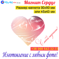 Магнит Сердце на холодильник 023