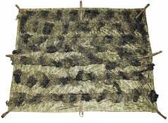 Маскировочный тент 2 x 1,5 м лесной камуфляж MFH Ghillie 07751T