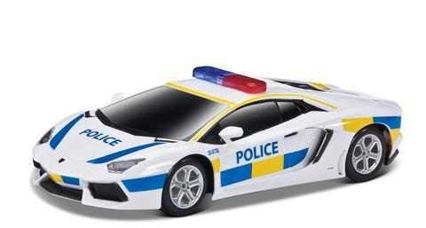 Игровая автомодель Lamborghini Aventador LP 700-4 белый (свет. и звук. эф.), М1:24, 2шт. бат. АА в к