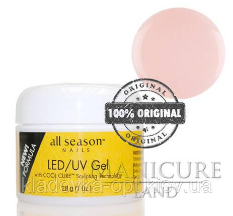 Моделирующий гель LED/UV All Season (прозрачно-розовий) 28 г, фото 2
