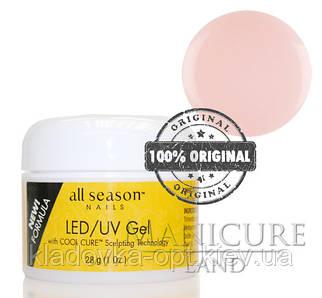 Моделирующий гель LED/UV All Season (прозрачно-розовий), 28 г