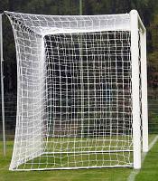 Футбольная сетка с шнура 3,5мм., ячейка 15см.,глубина 1,05м.