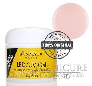 Моделирующий гель LED/UV All Season (прозрачно-розовый), 56 г