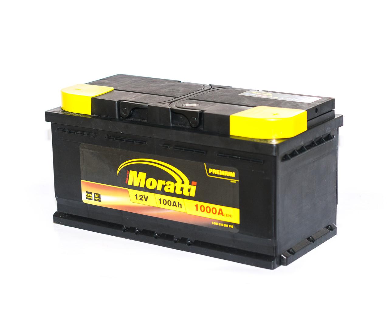 Аккумулятор автомобильный  6СТ-100Ач. 1000A. MORATTI Premium