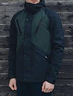Мужская куртка весенняя Staff V navy and green