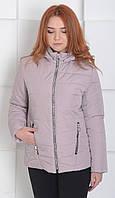 Куртка женская весенняя м-155 пудра