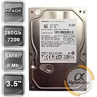 "Жесткий диск 3.5"" 250Gb Hitachi HDT721025SLA380 (8Mb/7200/SATAII) БУ"
