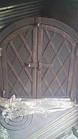 """Дверка духовки 400*600 мм """"арка"""" металл+ковка """"батон"""""""
