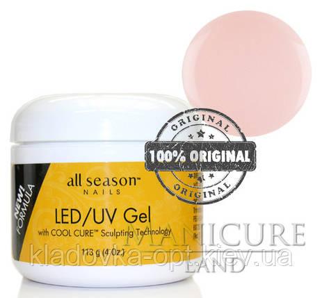 Моделирующий гель LED/UV All Season (прозрачно-розовый), 113 г, фото 2